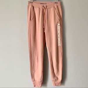 Abercrombie and Fitch joggers.